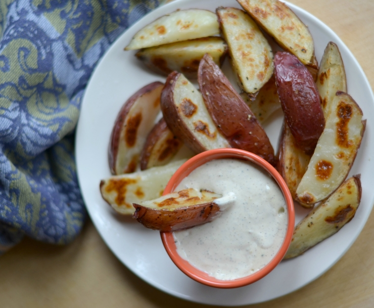 Potato wedges and aioli