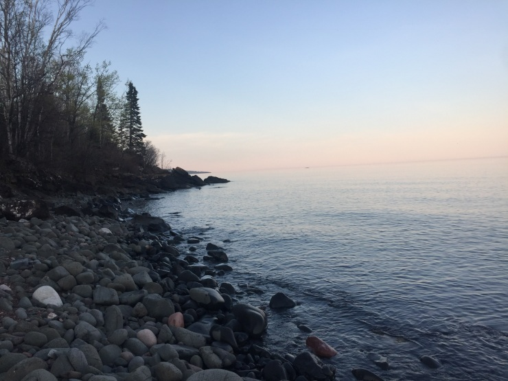 Lake Superior shoreline Minnesota