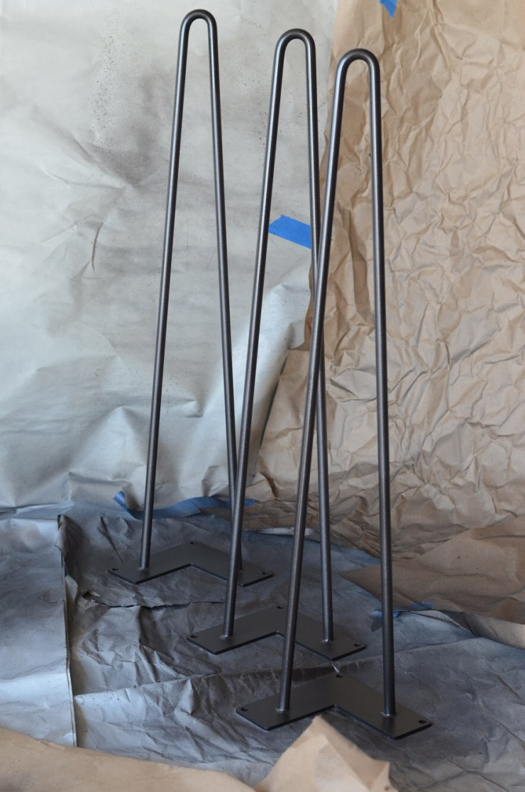 hairpin legs and spray paint