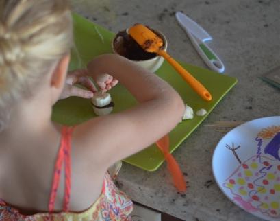 child making snack